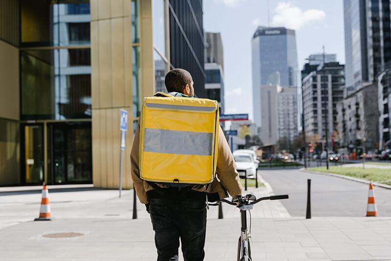 Complément de salaire en faisant de la livraison à vélo